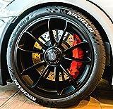 Tire Style 4 x Reifenaufkleber - Michelin- Farbe: weiß Reifenschrift Reifen Aufkleber (19 Zoll)