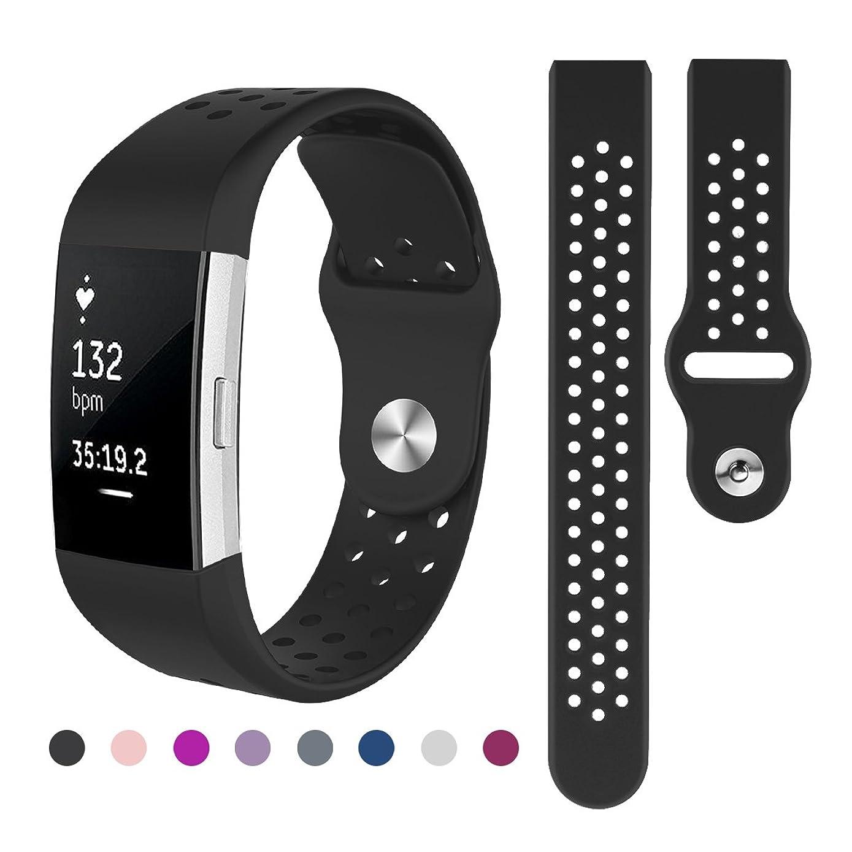 破壊と遊ぶ菊Kutop for Fitbit charge 2 バンド, 柔軟でスポーツ仕様 多色選択 交換ベルト for Fitbit Charge 2