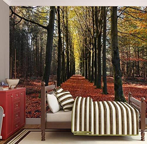 3D Non-Woven behang muurschildering Middelgrote Schilderij met Bos Achter Tv Bank Bed Als achtergrond in Woonkamer Slaapkamer 350*245 350*245