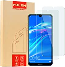 [2-Pack] PULEN Screen Protector for Huawei Y7 2019/Y7 Pro 2019,HD Anti-Fingerprints Anti-Scratch Bubble Free 9H Hardness Tempered Glass for Huawei Y7 2019/Y7 Pro 2019,6.26''