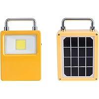 OnlyLux 10-watt LED Rechargeable Waterproof Solar Work Light with Backup Power Bank Function