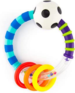 Sassy Ring Rattle  |  Developmental Baby Toy for Early Learning  |  High Contrast  |  For Ages Newborn and Up