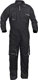 Black Work Wear Men's Overalls Boiler Suit Coveralls Mechanics Boilersuit Protective (XL)