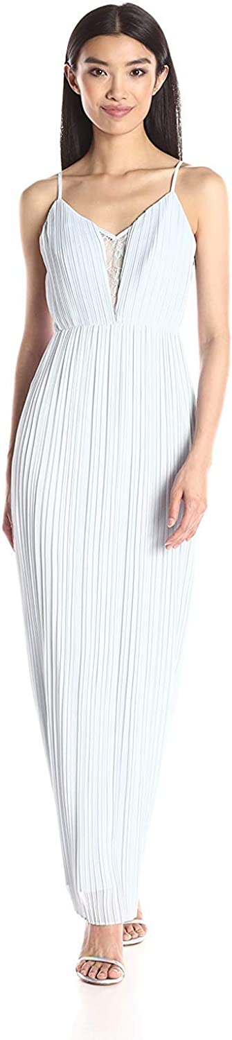 BCBGeneration Women's Pleated Strap Gown