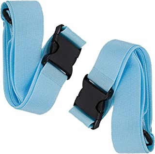 BlueCosto Luggage Strap Suitcase Straps Belts Travel Accessories, 2-Pack, Blue