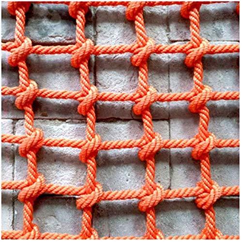 Safety net decoratie, kinderkabelnet, banister, trapbeschermhek, klimnet, Red Rope Ladder, Safety Net Indoor Balkon Decor Mesh Tresor Nets Outdoor (kleur: 14MM-20CM, Maat: 2 * 3 m (6,6 * 9.8ft))