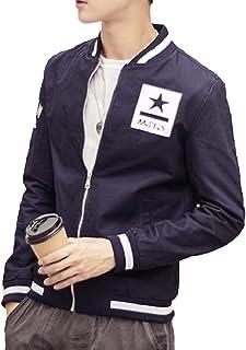 omniscient Men's Casual Zipper Long Sleeve Baseball Jackets Outwear