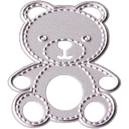 Gabarit de découpe en métal en forme d'ourson Compatible pour bricolage / scrapbooking / gaufrage