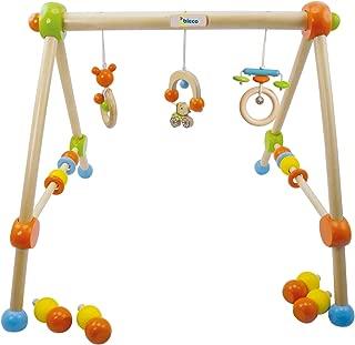 Bieco 4002315 - Gimnasio de madera para bebés (altura