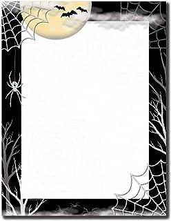 Image Shop Creepy Web Halloween Letterhead Laser & Inkjet Printer Paper (100pk),Black, White, Yellow