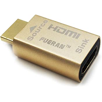 HDMI Pass-Through EDID Emulator for use with Video splitters, Switches and Extenders (fit-Headless) 3840x2160@60h&Attention:(NOT Support Dp to HDMI Adapter Cable Connection )