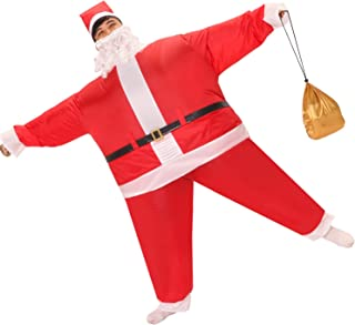 Inflatable Santa Claus Costume for Adult,Funny Inflatable Blown Up Christmas Costumes Suit,One Size Fits Most People