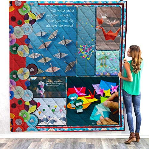 Why Choose VTH Global Origami Paper Folding Japanese Culture Quilt Blanket Twin Queen Size Tapestry ...