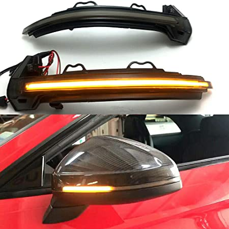 White A Pair Dynamic LED Turn Signal Light Scan Blue to Ice Blue Flowing Side Mirror Indicator for BM C E S GLC Class