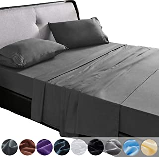 SAKIAO Queen Size Bed Sheets Set - Brushed Microfiber 1800 Bedding - 16