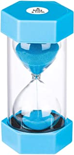 Sand Hourglass Timer 5 Minutes: Plastic Sand Clock 5 Minutes, large Blue Sand Watch 5 Min, Colorful Hour Glass Sandglass T...