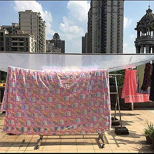 ZHANGQIANG-majiang Lona Transparente Gruesa Protector Solar Impermeable Toldo Parabrisas Balcón Paño de Lluvia PVC Caucho Suave Multifuncional Película de paño de Lluvia (Size : 5x8m)