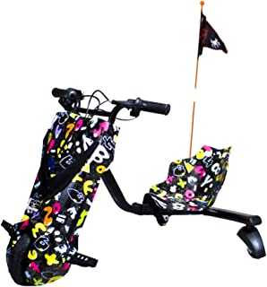 Gran Scooter Patinete con Silla Boogie Drift Pro (Motor 120W, Altavoces, 3 Velocidades, Antivuelco, Freno, Vel. Máx 15km, Luz Delantera, Pantalla LCD, Doble Batería) – Party