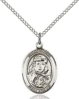 bliss Sterling Silver Catholic Saints Medal Pendant, 3/4 Inch