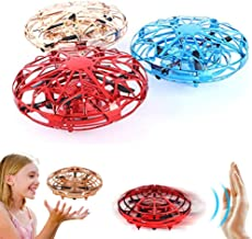 $24 » NWHEBET 3 Pack UFO Hand-Controlled Drones Toys, Instagram Mini Drone for Kids Beginners RC Quadcopter Sensor Infraed Induction Aircraft Flying Ball Toy,Blue Red Gold