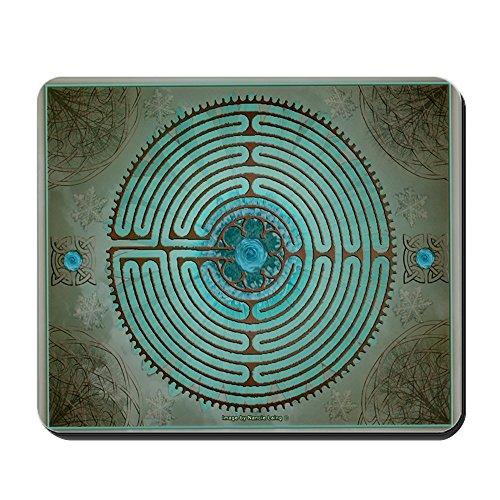 CafePress Celtic Labyrinth Digital Art Non-Slip Rubber Mousepad, Gaming Mouse Pad