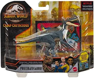 Jurassic World Camp Cretaceous Attack Pack Proceratosaurus Dinosaur Figure, Realistic Sculpting & Texture; for Ages 4 Years Old & Up
