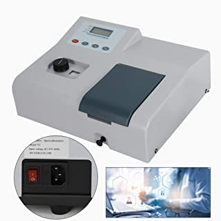 YUNRUS Digital Visible Spectrophotometer Lab Equipment Spectronic with Glass Cuvette