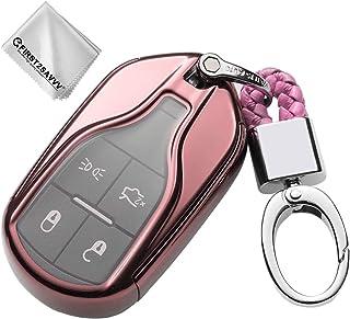 Key Protection Shell Auto Schlüssel Hülle fur Maserati Quattroporte Ghibli Levante GT GC (Rosa)