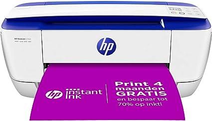 -HP DeskJet 3760 All-in-One (C. Blue) XMO2, Draadloze Wifi kleuren inktjet printer voor thuis (Afdrukken, kopiëren, scannen) Inclusief 2 maanden Instant Ink-aanbieding