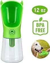 LC-dolida Pet Travel Water Drinking Bottle Dispenser with Filter, Anti-Leak for Dog Walking Hiking 12oz/350ml