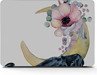 MacBook Pro Case Composition Black Wiled Panther Flowers Suitable for MacBook Pro 15