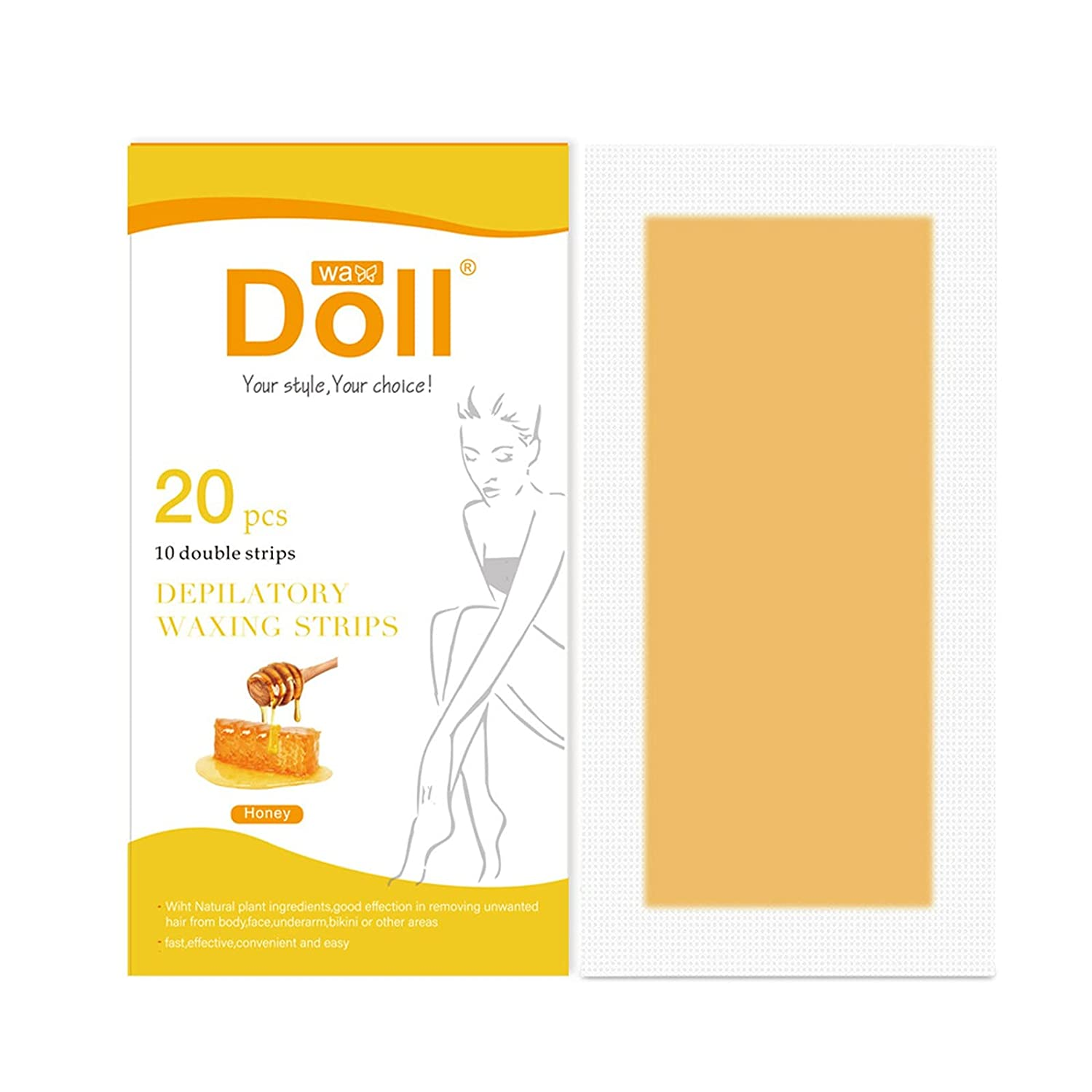 20 depot Wax Strips - Very popular Safe Rapid Waxing for Fa Removal Hair