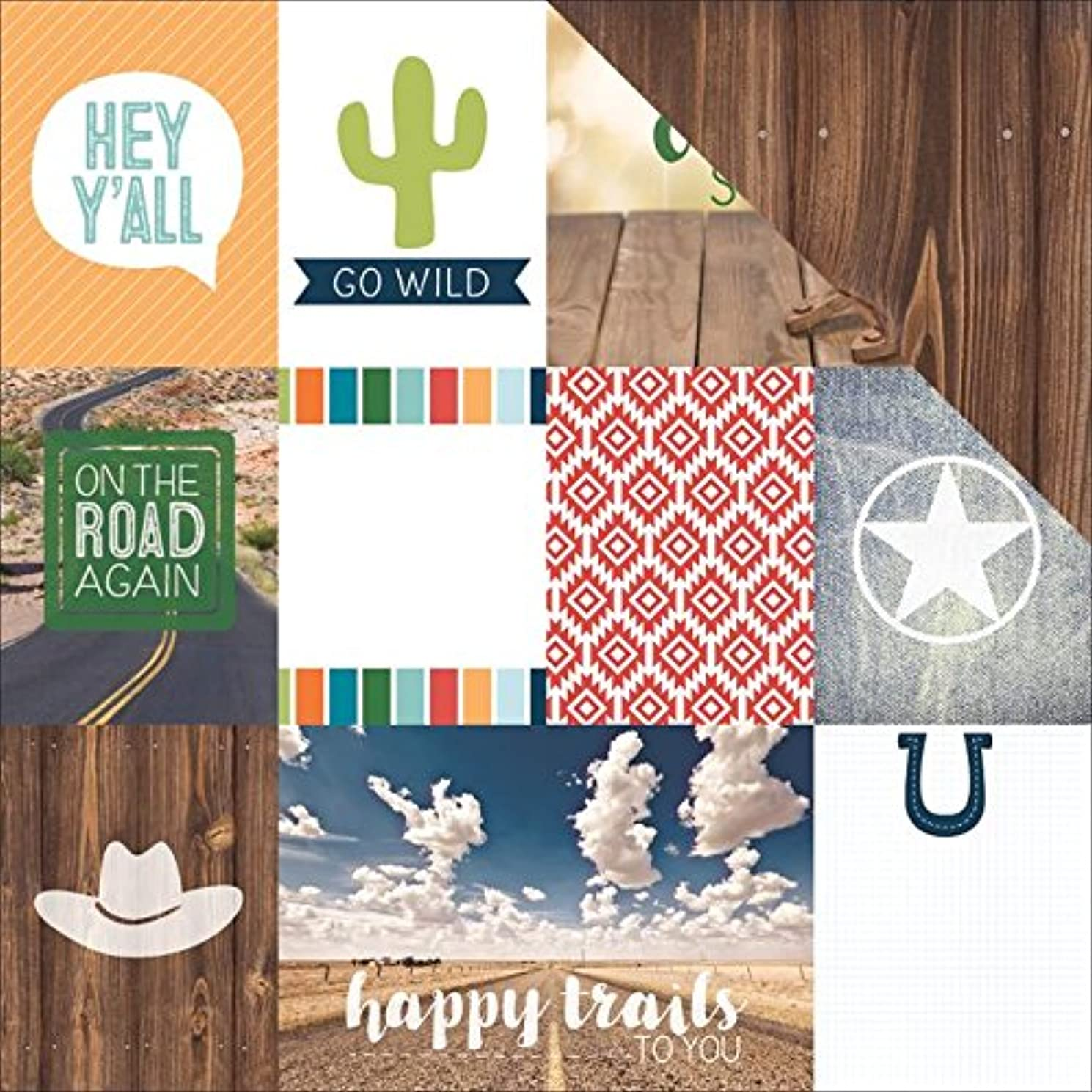 Paper House Productions Country Strong Tags Paper Craft Product (15 Pack), Piece