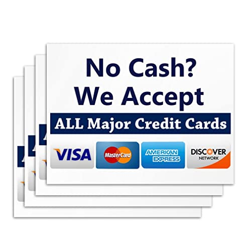 picture about We Accept Credit Cards Printable Sign called Credit rating Card Signs and symptoms: