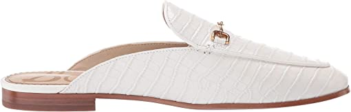 Bright White Kenya Croco Leather