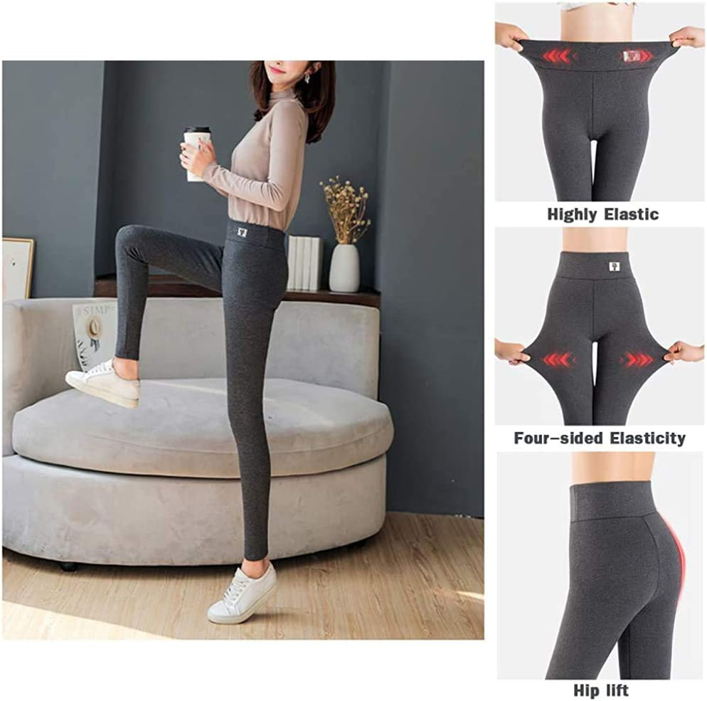 VMNG Super Thick Cashmere Wool Leggings Windproof and Cold Lasting Warmth,Winter Warm Women Elastic Leggings Pants Fleece Lined Thick Tights
