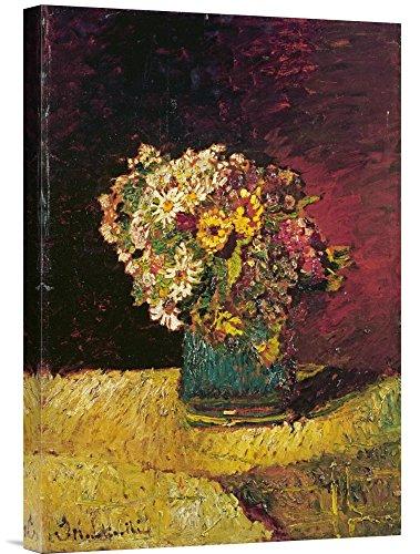 Global Galerie Budget gcs-265280–55,9–360,7cm Adolphe Joseph Thomas Monticelli Blumen in Einer Vase Galerie Wrap Giclée-Kunstdruck auf Leinwand Art Wand