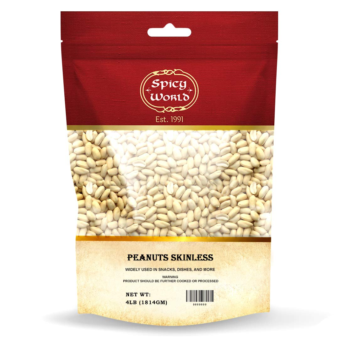 Don't Quality inspection miss the campaign Spicy World Skinless Peanuts Raw Uncooked Un Blanched