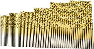 "Hymnorq Jobber Length Mini Twist Drill Bits Set of 60pcs - Six Fractional Inch Sizes, 3/64"" 1/16"" 5/64"" 3/32"" 7/64"" 1/8""- ..."