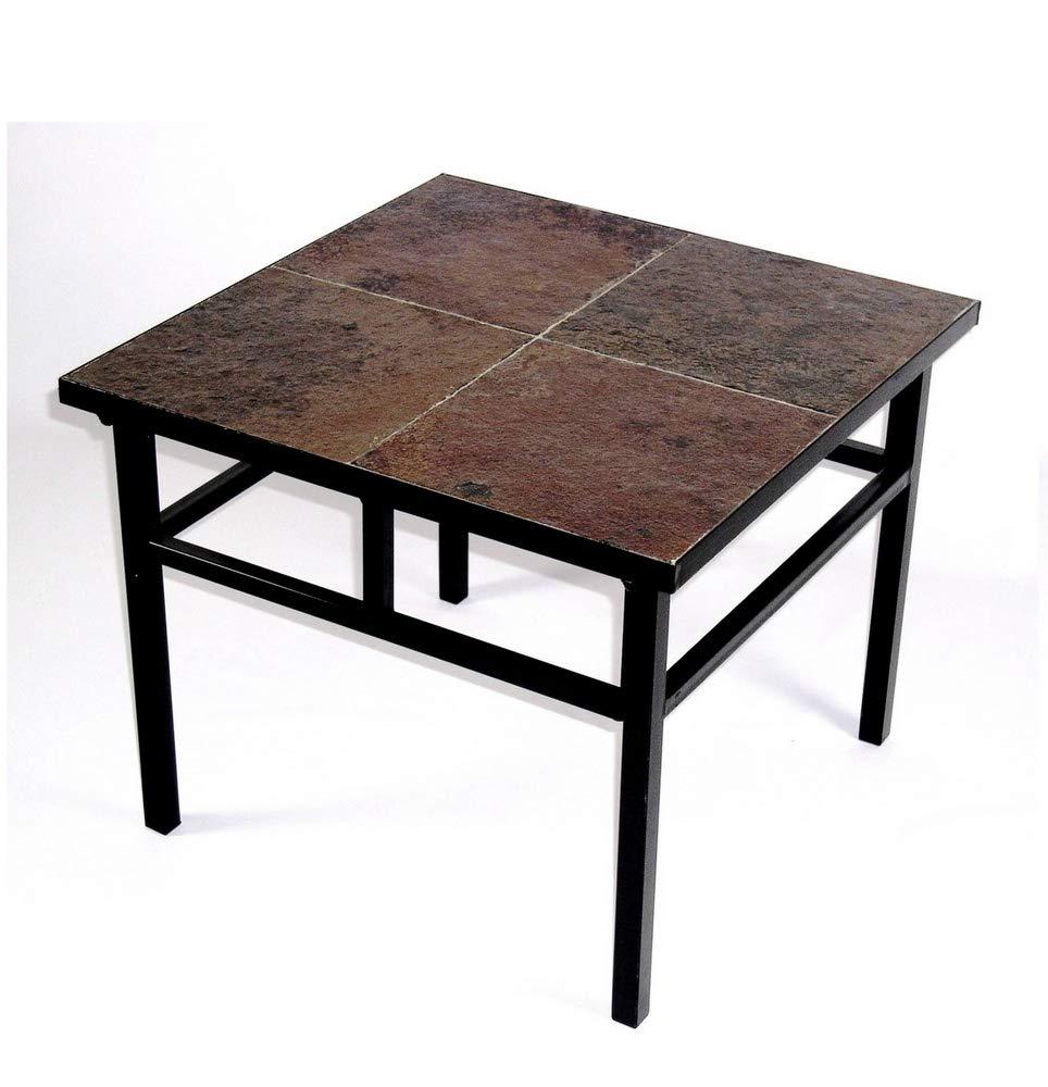 Amazon Com 4d Concepts End Table With Slate Top Metal Slate Furniture Decor