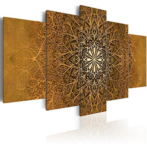 murando - Cuadro en Lienzo Mandala 200x100 cm Impresión de 5 Piezas Material Tejido no Tejido Impresión Artística Imagen Gráfica Decoracion de Pared Ornamento f-A-0515-b-p