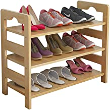 Household Simple Shoe Rack Solid Wood Storing 3 Tier Hallway Storage Shelf Unit Space Saving Shelf Unit Pine Wood