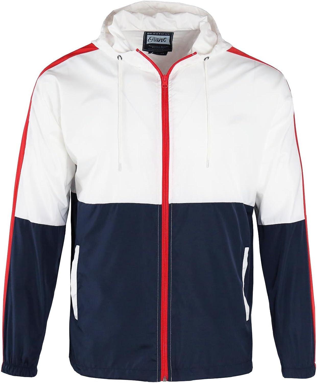Men's Windproof Coat Silm fit long sleeve Performance School Waterproof Trenchcoat