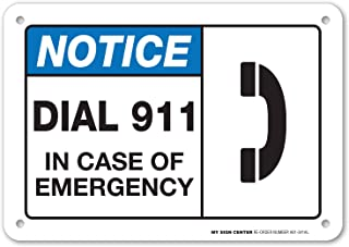 in case of emergency call 911 sign
