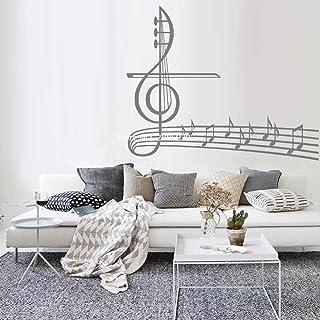 Wall Art Chiave di violino con pentagramma e note Scultura da parete Wall Art Contemporaneo in Metallo