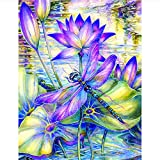 Q&K Purple Lotus and Dragonfly Thanksgiving Gift Jigsaw Puzzles Adults Wooden 1000 Piece