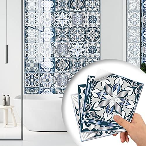 YAOUFBZ Pegatinas de azulejos de cocina impermeables y a prueba de aceite, pegatinas de azulejos 3D, pegatinas autoadhesivas de bricolaje para decoración del hogar, pegatinas creativas de bricolaje