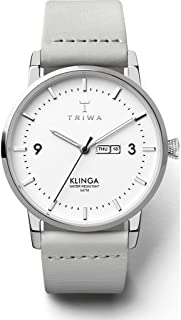 Triwa Unisex-Adult Quartz Klinga Watch analog Display and Leather Strap, KLST109-CL111512