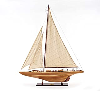 Model Ship Wood Replica Americas Cup Contender 40 Famous