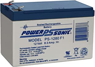 Power Sonic 12V 8AH F1 SLA Battery Replaces Agri-Alert 800 / 800T Alarm System